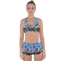 mini Australian Shepherd group Racerback Boyleg Bikini Set