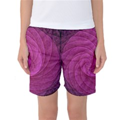 Purple Background Scrapbooking Abstract Women s Basketball Shorts