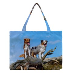 mini Australian Shepherd group Medium Tote Bag