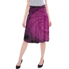 Purple Background Scrapbooking Abstract Midi Beach Skirt