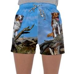 mini Australian Shepherd group Sleepwear Shorts