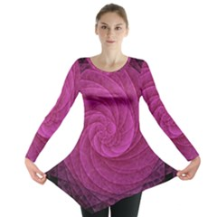 Purple Background Scrapbooking Abstract Long Sleeve Tunic