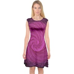 Purple Background Scrapbooking Abstract Capsleeve Midi Dress