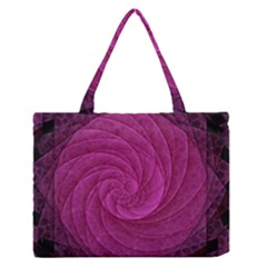 Purple Background Scrapbooking Abstract Medium Zipper Tote Bag