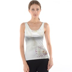 Orchids Flowers White Background Tank Top