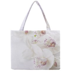 Orchids Flowers White Background Mini Tote Bag