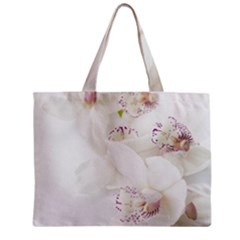 Orchids Flowers White Background Zipper Mini Tote Bag