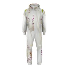Orchids Flowers White Background Hooded Jumpsuit (Kids)