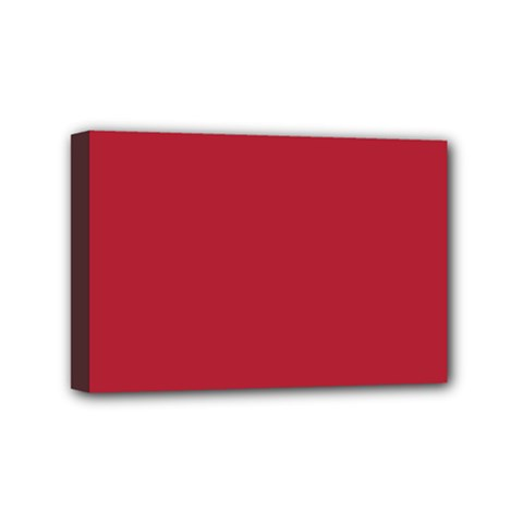 USA Flag Red Blood Red classic solid color  Mini Canvas 6  x 4