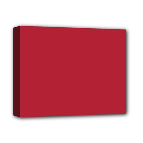 USA Flag Red Blood Red classic solid color  Deluxe Canvas 14  x 11