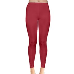 USA Flag Red Blood Red classic solid color  Classic Winter Leggings