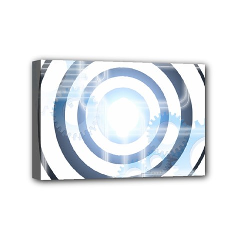Center Centered Gears Visor Target Mini Canvas 6  x 4