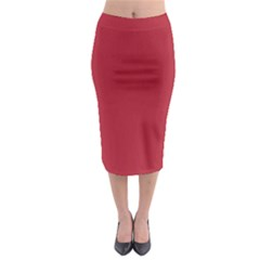 USA Flag Red Blood Red classic solid color  Midi Pencil Skirt