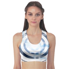 Center Centered Gears Visor Target Sports Bra