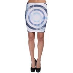 Center Centered Gears Visor Target Bodycon Skirt