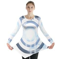 Center Centered Gears Visor Target Long Sleeve Tunic
