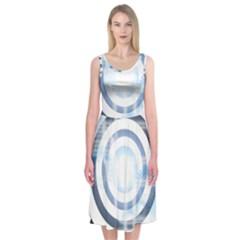 Center Centered Gears Visor Target Midi Sleeveless Dress