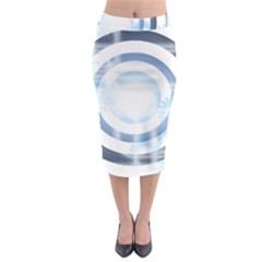 Center Centered Gears Visor Target Midi Pencil Skirt