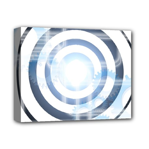 Center Centered Gears Visor Target Deluxe Canvas 14  x 11