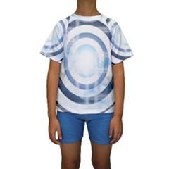 Center Centered Gears Visor Target Kids  Short Sleeve Swimwear