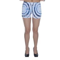 Center Centered Gears Visor Target Skinny Shorts