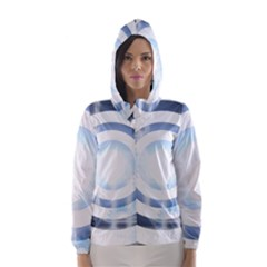 Center Centered Gears Visor Target Hooded Wind Breaker (Women)