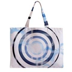 Center Centered Gears Visor Target Zipper Mini Tote Bag