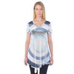 Center Centered Gears Visor Target Short Sleeve Tunic