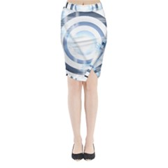 Center Centered Gears Visor Target Midi Wrap Pencil Skirt