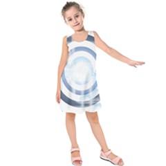 Center Centered Gears Visor Target Kids  Sleeveless Dress