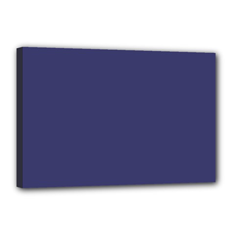 USA Flag Blue Royal Blue Deep Blue Canvas 18  x 12