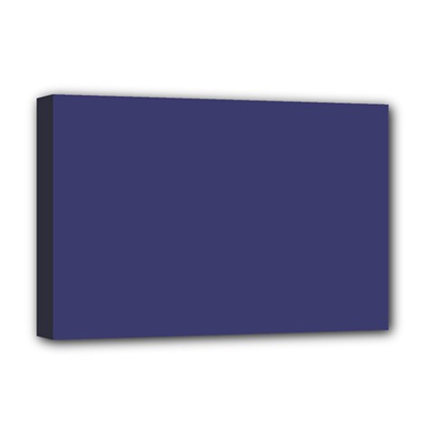 USA Flag Blue Royal Blue Deep Blue Deluxe Canvas 18  x 12