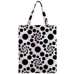 Dot Dots Round Black And White Classic Tote Bag