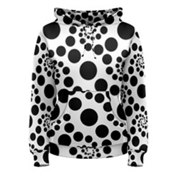 Dot Dots Round Black And White Women s Pullover Hoodie