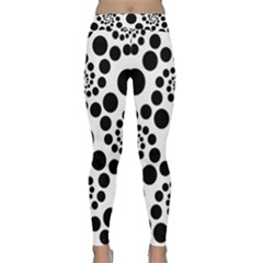 Dot Dots Round Black And White Classic Yoga Leggings
