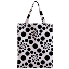 Dot Dots Round Black And White Zipper Classic Tote Bag
