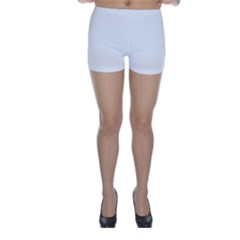 Solid Snow White Christmas Color Skinny Shorts