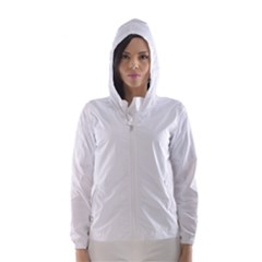 Solid Snow White Christmas Color Hooded Wind Breaker (Women)