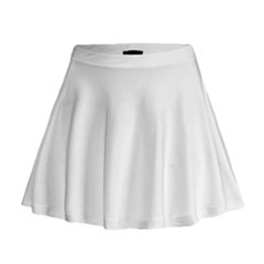Solid Snow White Christmas Color Mini Flare Skirt