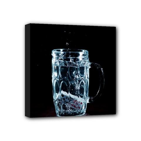 Glass Water Liquid Background Mini Canvas 4  x 4