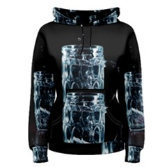 Glass Water Liquid Background Women s Pullover Hoodie