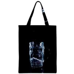 Glass Water Liquid Background Zipper Classic Tote Bag