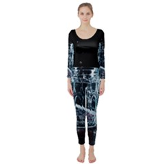 Glass Water Liquid Background Long Sleeve Catsuit