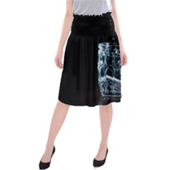Glass Water Liquid Background Midi Beach Skirt