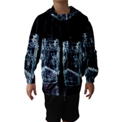 Glass Water Liquid Background Hooded Wind Breaker (Kids)