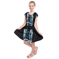 Glass Water Liquid Background Kids  Short Sleeve Dress