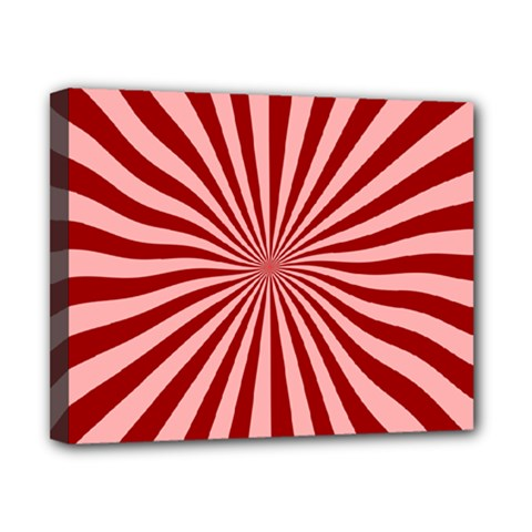 Sun Background Optics Channel Red Canvas 10  x 8