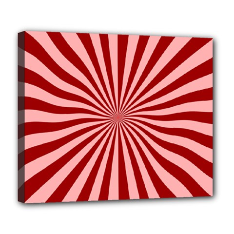 Sun Background Optics Channel Red Deluxe Canvas 24  X 20