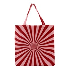 Sun Background Optics Channel Red Grocery Tote Bag