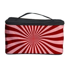 Sun Background Optics Channel Red Cosmetic Storage Case